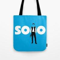 han solo Tote Bags featuring Han Solo by Vector Vectoria