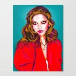 Stylized Vector Portrait. Ornella Muti Canvas Print