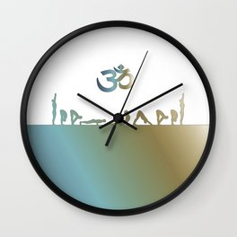 Suria Namaskar Wall Clock