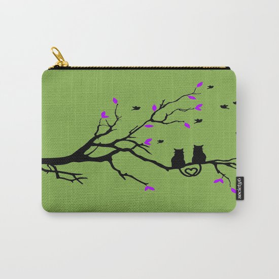 The Cat's in Love Carry-All Pouch