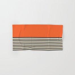 Sunrise / Sunset - Orange & Black Hand & Bath Towel