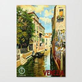 Venezia - Venice Italy Vintage Travel Canvas Print