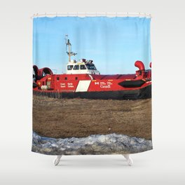 Hovercraft on the Beach Shower Curtain