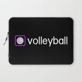 Volleyball (Purple) Laptop Sleeve