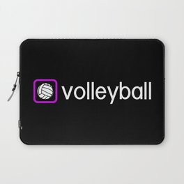 Volleyball (Purple) Laptop Sleeve