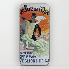 Carnaval, 1896 French Vintage Opera Poster Jules Cheret iPhone Skin