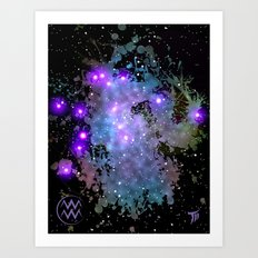The Zodiac Sign -- Aquarius Art Print