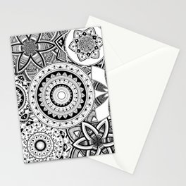 Mandalas in a lace Stationery Cards