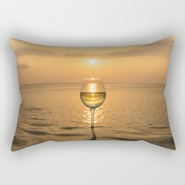 Wine Sunset in Paradise Rectangular Pillow