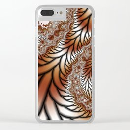 Tree Dance Fractal Clear iPhone Case