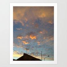 that sky .... Art Print