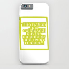 Life Lesson No. III iPhone Case