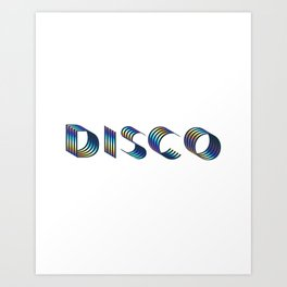 DISCO || #society6 #disco #decor Art Print