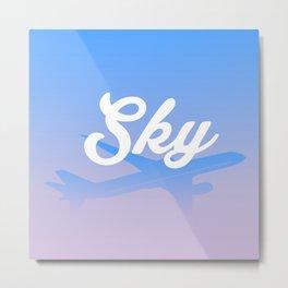 Hello Sky Metal Print