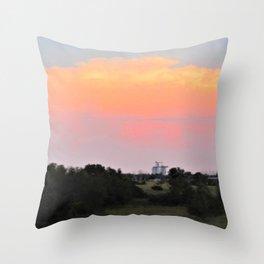 Kansas Sunset Throw Pillow