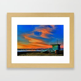 Redondo Beach Sunset at HR Framed Art Print