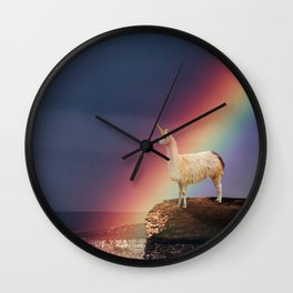 Llamacorn Wall Clock