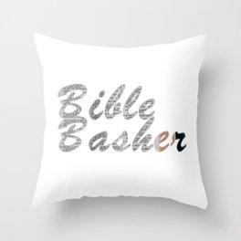 Bible Basher Throw Pillow