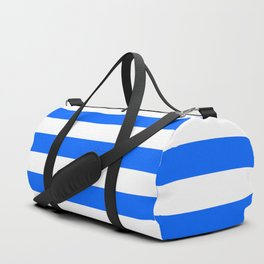 China Blue and White Medium Stripes Duffle Bag