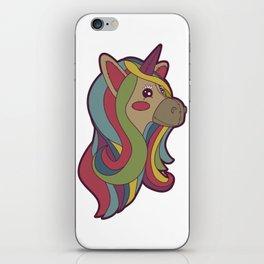 Unicorn Head! iPhone Skin