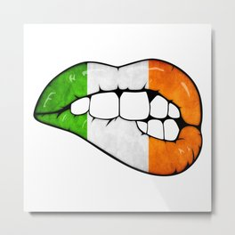 Irish lips Metal Print