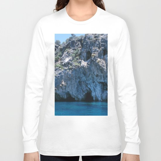 NATURE'S WONDER #4 - BLUE GROTTO #art #society6 Long Sleeve T-shirt