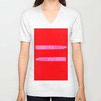 equality V-neck T-shirts featuring equality by rylesigh