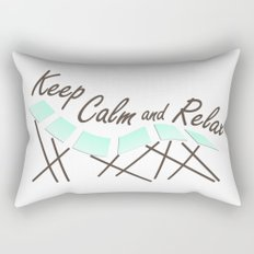 Keep Calm and Relax Rectangular Pillow