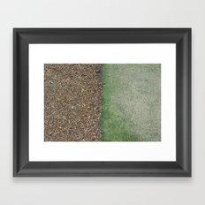 Grass and Mulch Framed Art Print
