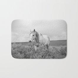 Stormy Walk Horse Photograph Bath Mat