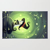 fireflies Area & Throw Rugs featuring Fireflies by Freeminds