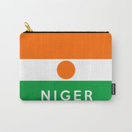 niger country flag name text Carry-All Pouch