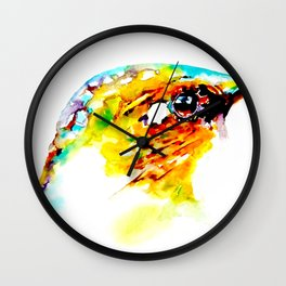 Hummingbird Head Wall Clock