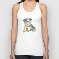 yorkie Tank Tops featuring Yorkie Pup by The Painted Lace