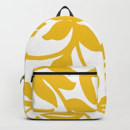 PALM LEAF VINE LEAF YELLOW PATTERN Backpack