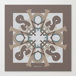 Home Sweet Home Mandala - Brown Tan Canvas Print
