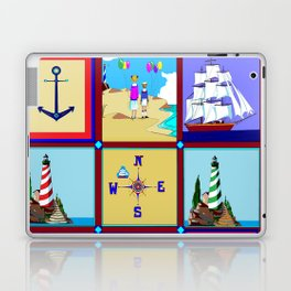 Another Nautical Quilt but with Compass Rose Laptop & iPad Skin