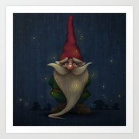 gnome Art Prints featuring Gnome by Jordygraph
