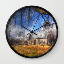 Windmill and Barn Wall Clock
