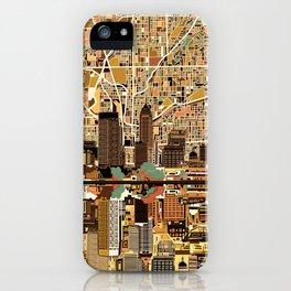 indianapolis city skyline orange iPhone Case
