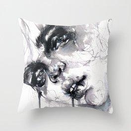 Drooling Throw Pillow