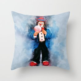 The Clown Throw Pillow
