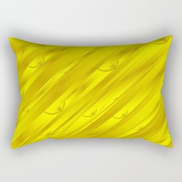yellow abstract pattern in metal Rectangular Pillow