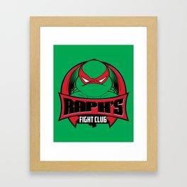 Raph's Fight Club Framed Art Print