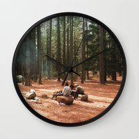 camp Wall Clocks featuring Camp by Casey Afton Hess