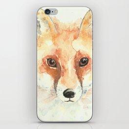 Watercolour Fox iPhone Skin