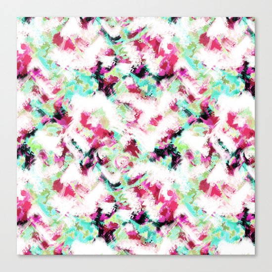Abstract pattern white green pink . Canvas Print