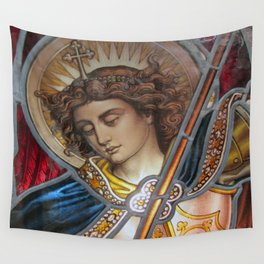 Angel in Glass Wall Tapestry