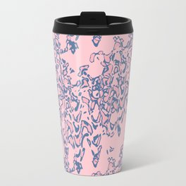 #Abstract #pink #blue Travel Mug