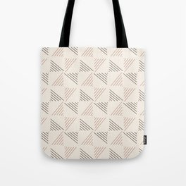 Brown Line Triangles Pattern Tote Bag